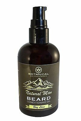 Natural Man Bay Lime Beard Oil 4oz - All Natural Beard Conditioner