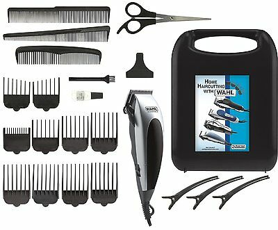 Hair cutting Kit 22 Piece Home Pro Ergonomic Clippers 3231 Wahl Free Shipping