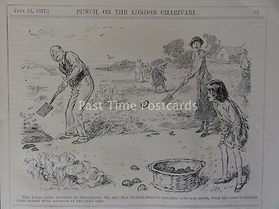 WW1 1917 July 11th GOLF LINKS DEVOTED TO WAR TIME ALLOTMENTS Punch Cartoon