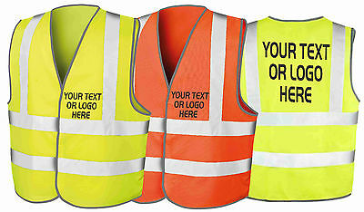 Personalised Custom Printed Hi Viz High Vis Builders Motor Safety Vest Waistcoat