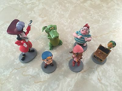 Disney Store Jake and the Neverland Peter Pan Pirates Figures Cake Toppers Lot