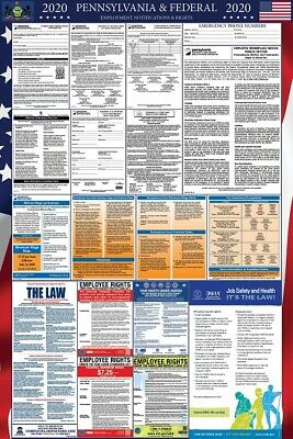 2019 Pennsylvania and Federal Laminated Labor Law Poster PREORDER