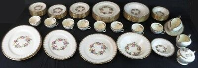"""Knowles KNO734 """"Flower Ring"""" China: 60+ Pieces 7-Piece Service for 8 Plus Extras"""