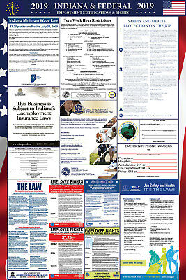 2019 Indiana and Federal Laminated Labor Law Poster