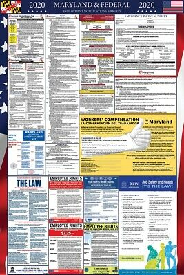2019 Maryland and Federal Laminated Labor Law Poster