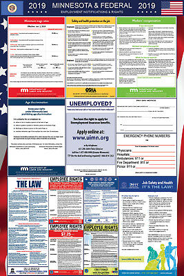 2019 Minnesota and Federal Laminated Labor Law Poster