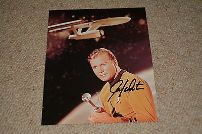 WILLIAM SHATNER signed Autogramm 20x25 cm  In Person STAR TREK  Kirk