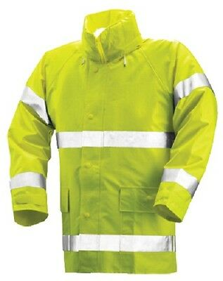 Tingley J53122.2X .35mm XXL High Visibility Fluorescent Lime Yellow Rain Jacket