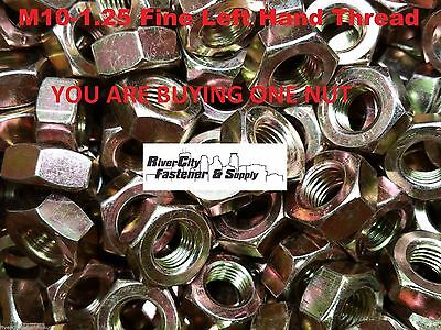 M16-1.5 Left Hand Fine Thread Hex Nuts Grade 8.8 Steel 16mm With 24mm Hex 10