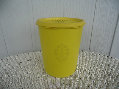 vintage retro  tupperware yellow canister