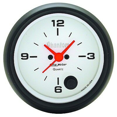 "Autometer Clock In Dash 2.5/8"" Quartz Movement - Au5885"