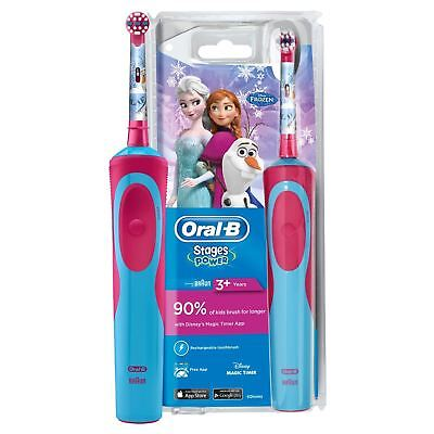 Braun Oral-B Stages Power Kids Electric Rechargeable Toothbrush Disney Frozen