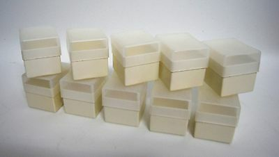 10x (ten) Storage boxes slide frames 35mm up to 20 slides box size 50X42mm---M3