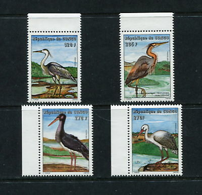 P.R.Congo 2001  birds  RARE  short set  4v.   MNH G210