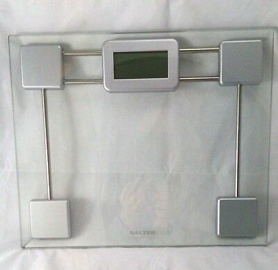 Salter Digital Bathroom Scales LCD Screen Glass Clear Weight Slim Scales 9081
