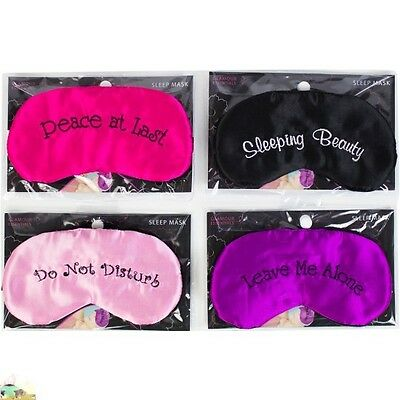 Novelty gift Travel sleeping eye mask black shade blindfold funny naughty night