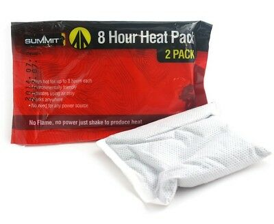 Summit 8 Hour TWIN Pack Disposable Heat Pack Hand Warmer Handwarmer