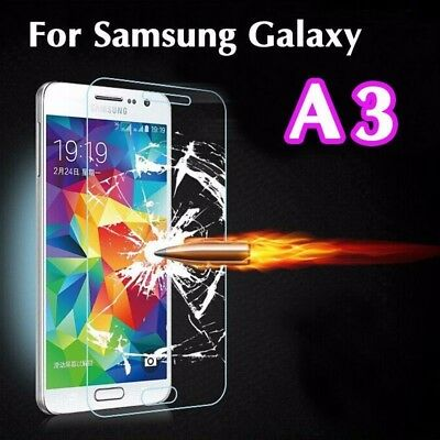 Genuine Tempered Glass 9H Screen Protector For Samsung Galaxy A3 (2014 model)