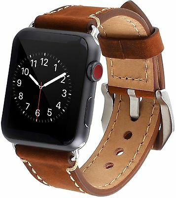 Apple Watch Band 42mm Premium Vintage Genuine Leather Replacement Watchbands ...