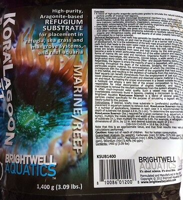 KoraLagoon Substrate 1.4Kg for Reef/Marine Refugium - Free First Class Post!! • EUR 27,06