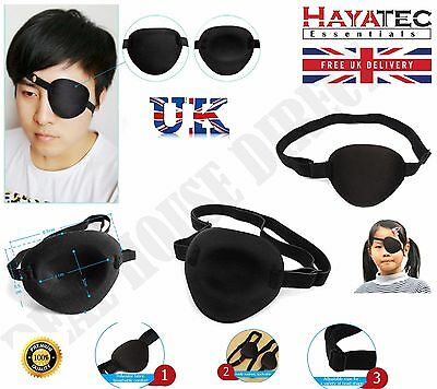 Medical Concave Eye Patch Foam Groove Washable Eyeshades Adjust Strap Kids/Adult