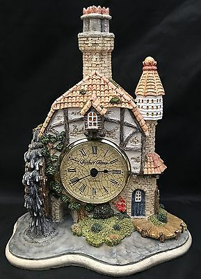 Father Time The Water Mill Clock Cottage Building England Signed