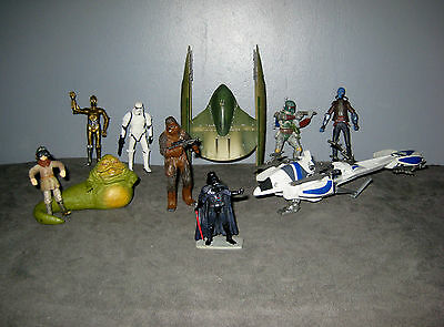 lot figurines vaisseau  Star Wars Chewbacca/Dark Darth Vador/Stormtrooper/C3 PO