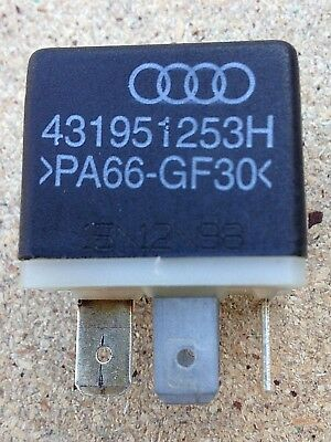Audi A6 (C5) Relay No 204. Part number - 431951253H **2 supplied**