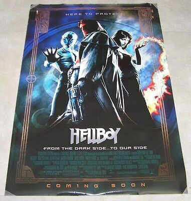HELLBOY Original DS 1SH Movie Poster 2004 27x40 Rare Heroes Advance Style