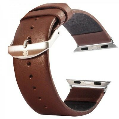 Real Leather Bracelet Brown for Apple Watch strap 42mm Accessories