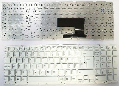 New Replacement Keyboard  For Sony Vaio VPC-EE3E0E PCG-61611M UK English White