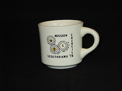 Vintage 1970's Boy Scouts of America Mission Council Scoutorama 1978 Coffee Mug
