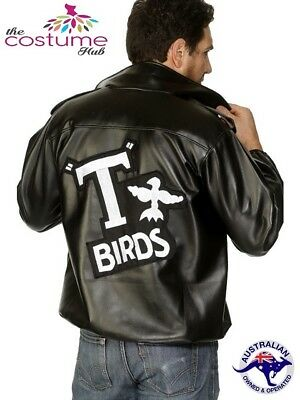Licensed Mens T Birds Jacket Grease 50s 60s Rydell High School T-Bird Tbird