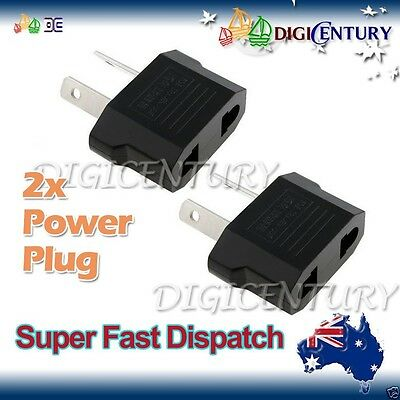 2x USA EU EURO ASIA to AU AUS AUST AUSTRALIAN POWER PLUGs TRAVEL ADAPTER