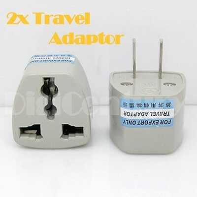 New 2x Australia Travel to China Japan Thailand Mexico Power Adaptor Plugs 2 Pin
