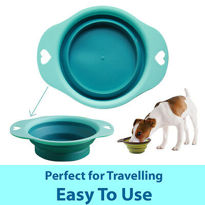 Pet Collapsible Bowl Dog Cat Food Water Feeding Travel Home Durable Safe Feeder