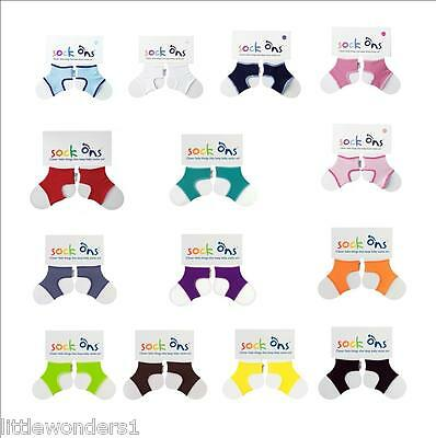 1 or 2 Pairs Of Babies Sock Ons Sock Keepers - 12-18 MONTHS