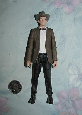 2009 The eleventh Doctor Who Figure with Cowboy hat and Sonic screwdriver
