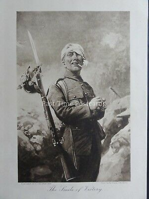 WW1 1915 THE SMILE OF VICTORY Art by C.M. SHELDON The Great War Vol 4 Print