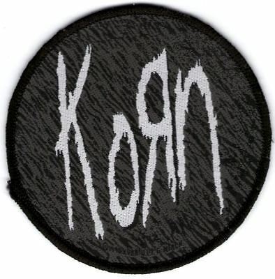 Korn Iron/sew On Patch Black Circle New Rare