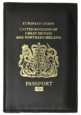 UK Travel Leather Passport Organizer Holder Card Case Protector Cover Wallet