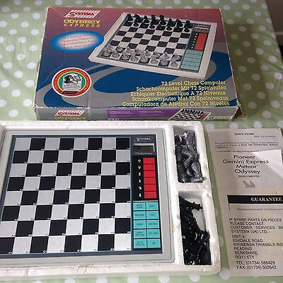 Odyssey Express Electronic Chess Game 72 Levels Teaching System Vintage RARE