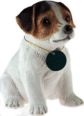 Sitting 17cm Cute Puppy Jack Russell Dog Figurine Ornament