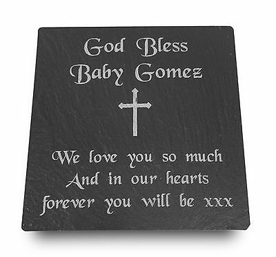 Personalised Engraved Slate Stone Memorial Grave Marker Headstone Plaque