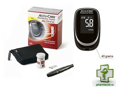 ACCU chek Performa Nano complete kit + 10 test strips.