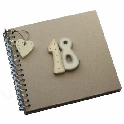 East Of India 18th Birthday Keepsake Book Eighteen Brown Kraft Memory Photo