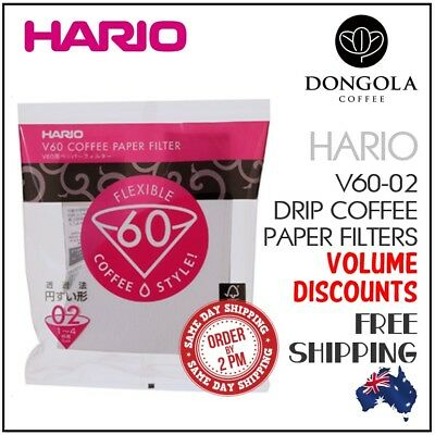 HARIO V60 02 White Coffee Paper Filters Dripper Pour Over Cone Cup Brewer