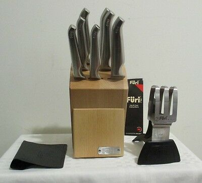 Furi Pro Beechwood 9 Piece Stainless Steel Knife Block Set (RRP $ 699.00)