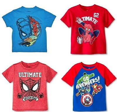 Marvel Spider-Man Avengers Toddler Boys Various T-Shirts Sizes 2T 3T 4T 5T NWT
