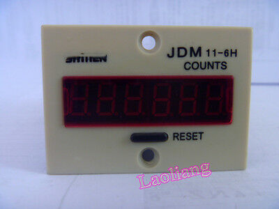 JDM11-6H Resettable 0-999999 LED Display Panel Digital Counter Cumulative AC220V